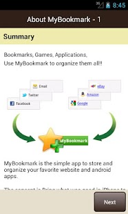 My Bookmarks (Free) Screenshot