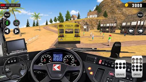 Offroad School Bus Driving: Flying Bus Games 2020 apkslow screenshots 17