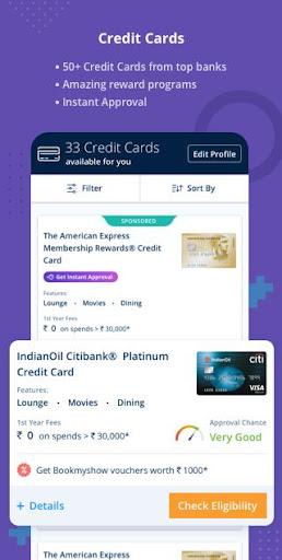 Free Credit Score, Loans, Cards & Mutual Funds screenshots 3