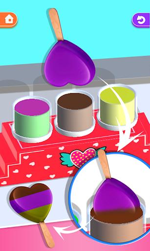 ice cream tie dye 3d! dipping master riddles asmr screenshot 2