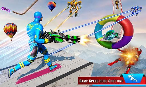 Speed Hero Robot Ramp Bike Transform Robot Games 1.7 screenshots 2