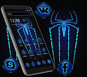 Blue Neon Light Spider For Pc – Free Download On Windows 10, 8, 7 1