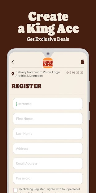 Burger King® Kosova screenshot 1