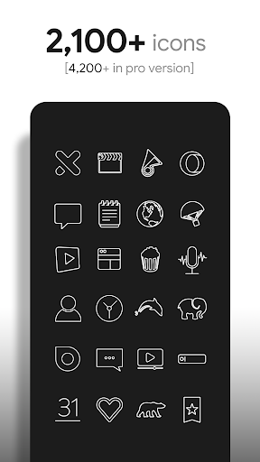 Lines - Icon Pack (Free Version) 3.2.8 Screenshots 2