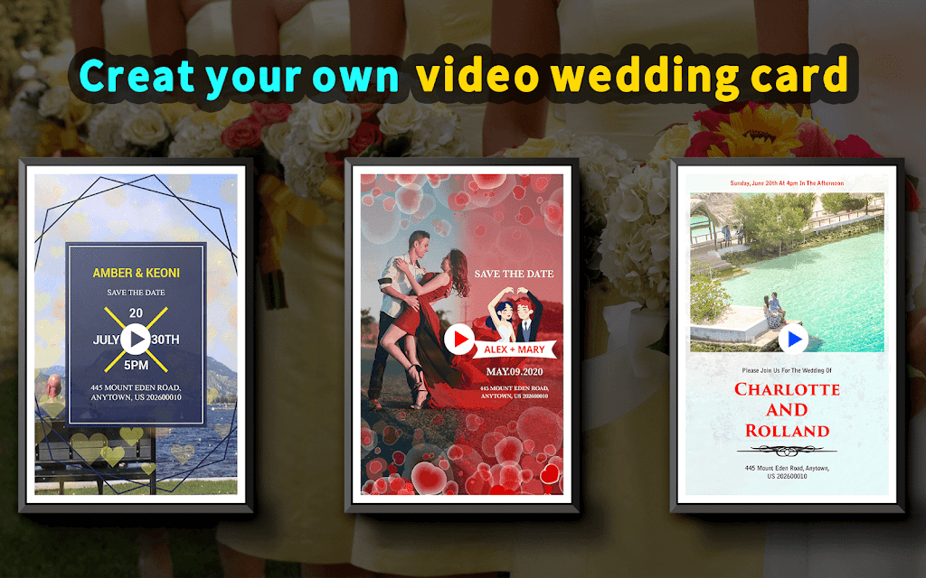 Wedding Card Design & Photo Video Maker With Music  poster 8