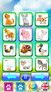 Animal sounds. Learn animals names for kids