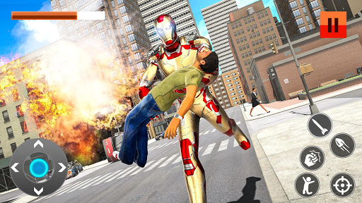 Iron Superhero War: Iron Robot Rescue Mission 2020  screenshots 4