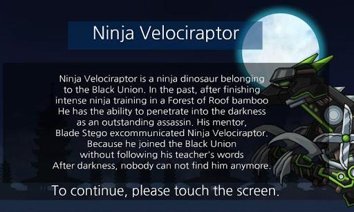 Ninja Velociraptor-Combine!Dino Robot:DinosaurGame 2.0.1 screenshots 1