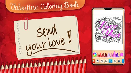 Valentines love coloring book  screenshots 24