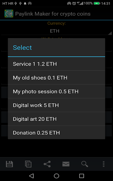 PayLink Maker for crypto currency coins screenshot 10