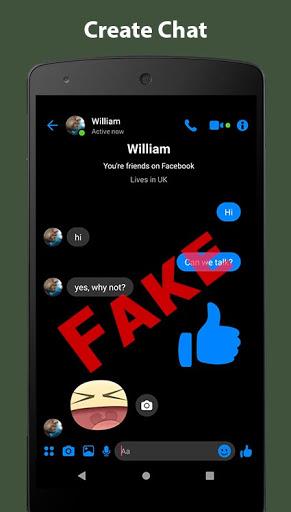 Fake Chat Conversation - prank 7.31 Screenshots 4