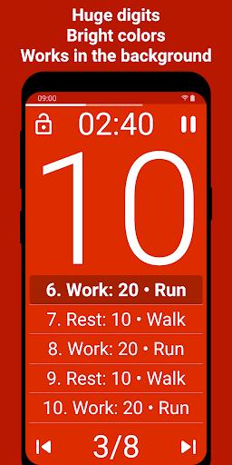 Tabata Timer: Interval Timer Workout Timer HIIT 5.2.1 Screenshots 2