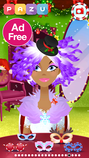 Girls Hair Salon Christmas - Hairstyling for kids 1.03 screenshots 2