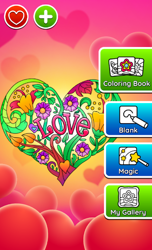 Valentines love coloring book  screenshots 21