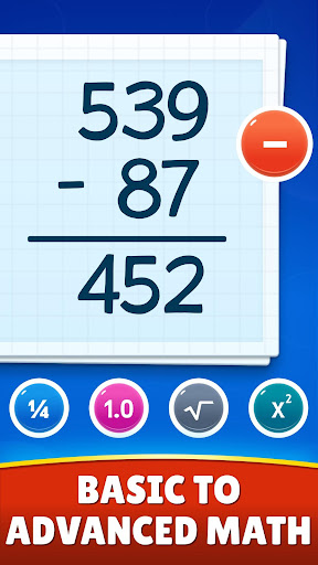 Math Games - Addition, Subtraction, Multiplication apkslow screenshots 2
