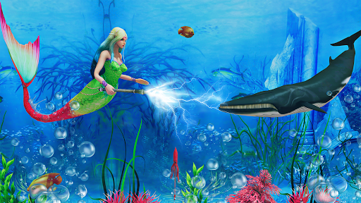 Mermaid Simulator 3D - Sea Animal Attack Games  screenshots 2