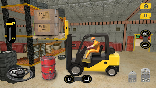 Real Forklift Simulator 2019: Cargo Forklift Games apktram screenshots 15