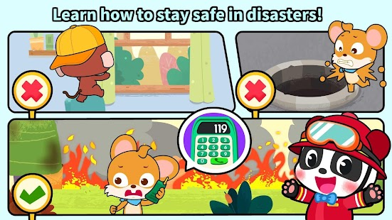 Baby Panda's Fire Safety Screenshot