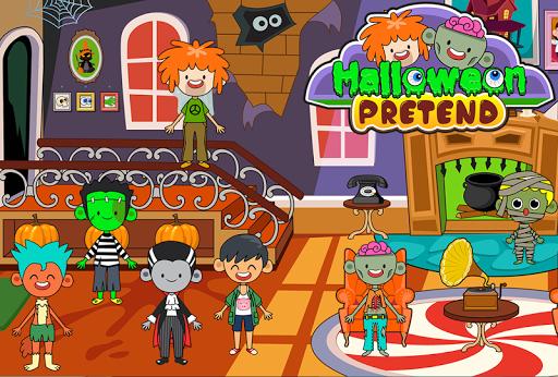 My Pretend Halloween - Trick or Treat Town Friends Apkfinish screenshots 7