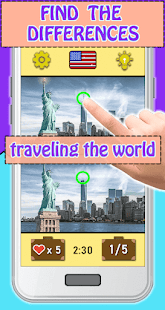 Find the differences: Traveling The World