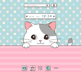 Cute Wallpaper Peeking Cat Theme 1.0.0 Mod APK Download 1