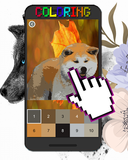 Dog Animal Coloring By Number-Pixel Art 7.0 screenshots 2