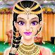 インドの女の子の結婚式のサロン