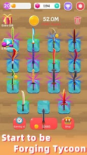 Merge Sword — Idle Blacksmith Master Mod Apk (Unlimited Gold) 1.3.5 5