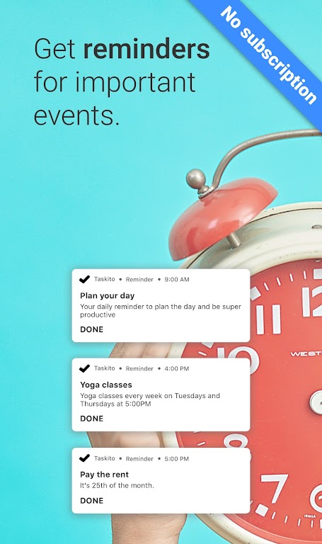 Taskito: To-Do List, Calendar & Reminders in one  poster 3