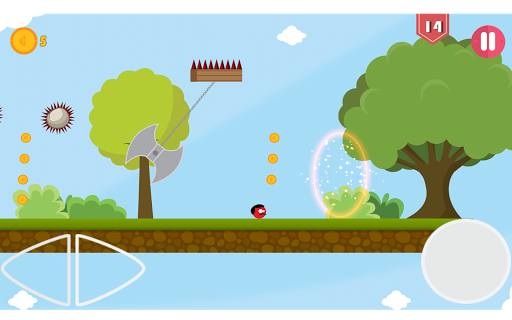 Super Red Jump Ball Mr Mustache 2.3 screenshots 13