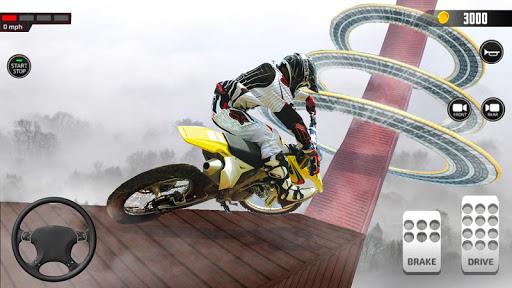 Impossible Mega Ramp Moto Bike Rider Stunts Racing modavailable screenshots 16