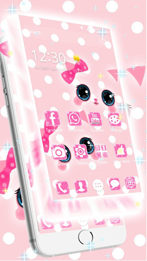 Pink kawaii Princess Kitty Theme  screenshots 2
