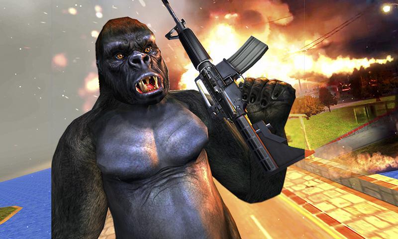 Captura de Pantalla 2 de Ataque de monos enojados guerra de supervivencia para android