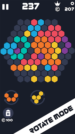 Hexa Mania Fill Hexagon Puzzle, Hex Block Blast  screenshots 1