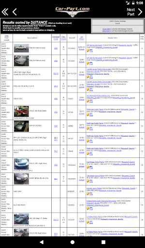 Car-Part.com Used Auto Parts 2.11.010 Screenshots 8