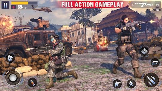 Real Commando Secret Mission Mod Apk (God Mode/Dumb Enemy) 4