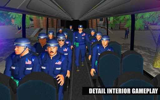 US Police Bus Mountain Driving Simulator  screenshots 3