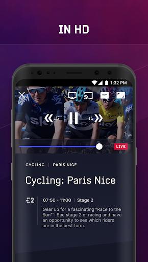 Eurosport Player - Live Sport Streaming App modavailable screenshots 4