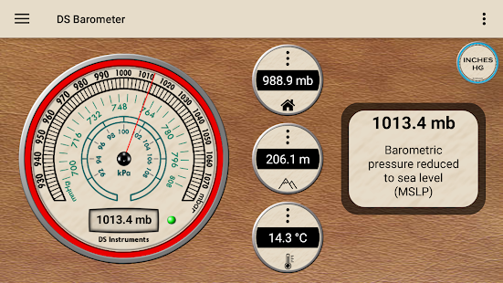 DS Barometer - Altimeter and Weather Information 3.78 Screenshots 1