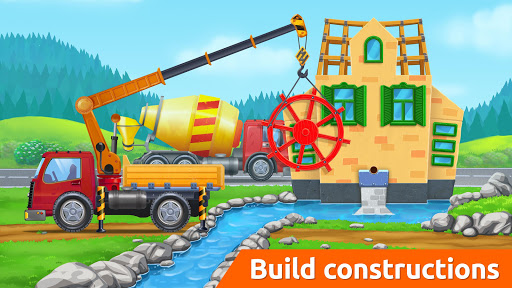 Build a House with Building Trucks! Games for Kids  screenshots 4