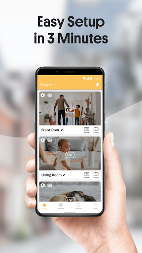 Alfred Home Security Camera: Baby Monitor & Webcam android2mod screenshots 2