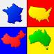 世界のすべての国の地図 - 地理学に関するクイズ - Androidアプリ