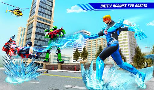 Flying Police Robot Snow Storm Hero: Crime City apktram screenshots 12