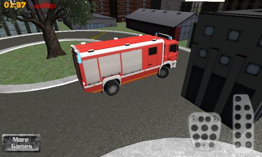 3d firefighter parking screenshot 2