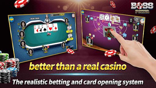 Boss Poker u2013 Texas Holdem Blackjack Baccarat Apkfinish screenshots 5