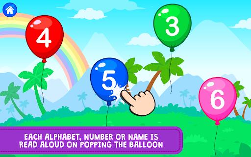Balloon Pop : Preschool Toddlers Games for kids apkdebit screenshots 3