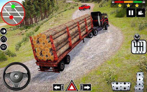 Log Transporter Truck Driving : Truck Games 2021 apklade screenshots 1