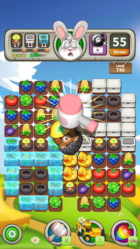Farm Raid : Cartoon Match 3 Puzzle  screenshots 1