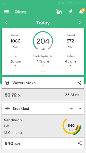 Health & Fitness Tracker with Calorie Counter  screenshots 3