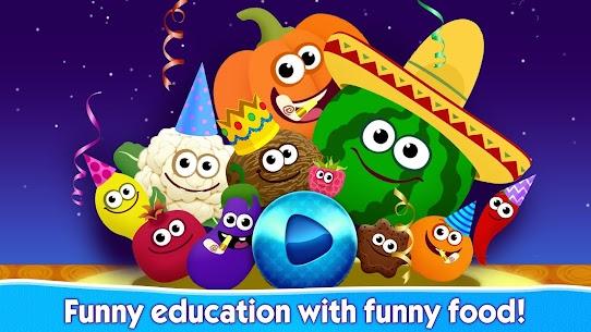 Funny Food 2! Okul öncesi eğitici çocuk oyunları! Full Apk İndir 6